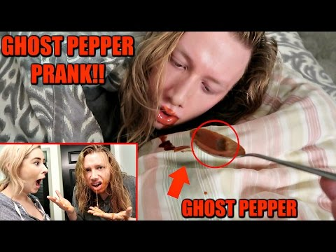 GHOST PEPPER HOT SAUCE PRANK ON SLEEPING BOYFRIEND!! GIRLFRIEND GETS REVENGE!!