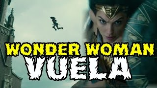 WONDER WOMAN VUELA Y ARES LE GOLPEA EN LOS SPOTS TELEVISIVOS - WARNER