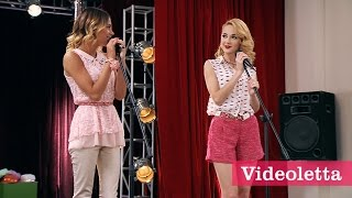 """Violetta 3 English: Vilu and Ludmi sing """"Your voice and my voice"""" Ep.75"""
