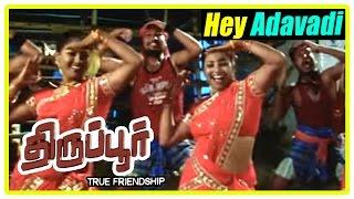 Tiruppur tamil movie | scenes | Unnimaya refuses to marry goon's brother | Hey Adavadi song