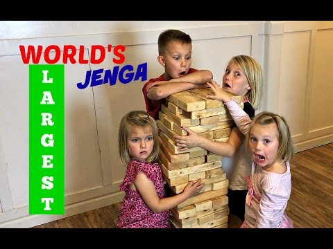 GIANT JENGA FAMILY GAME NIGHT
