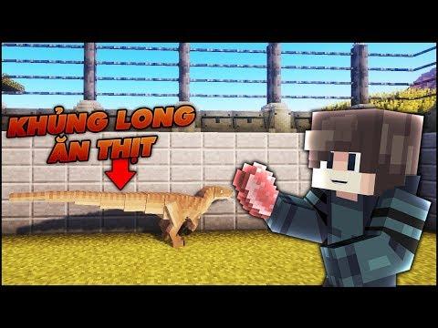 HỒI SINH KHỦNG LONG ĂN THỊT NGƯỜI TRONG MINECRAFT CVKL (Công Viên Khủng Long #3) | MK Gaming