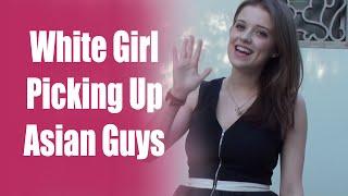White Girl Picking Up Asian Guys Speaking Chinese