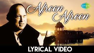 """Afreen Afreen"" with lyrics | Nusrat Fateh Ali Khan | ""आफरीन आफरीन"" गानो के बोल | नुसरत फ़तेह अली खान"