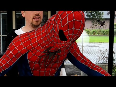 How-To-Wear Spider-Man Suit - Getting Inside the Costume