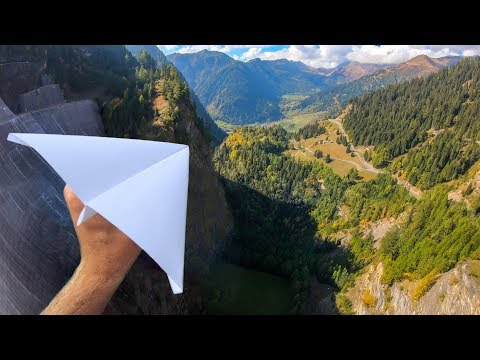 Throwing PAPER AIRPLANES from 165m Dam