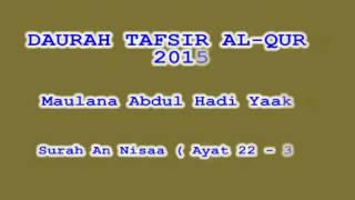 Daurah Tafsir Maulana Hadi   Sesi 84   Surah An Nisa  Ayat 22   30