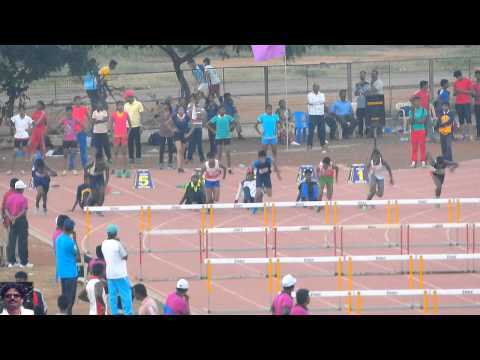 100m Hurdles Final. Boys U17. RDS Tamil Nadu School State Sports meet -2014