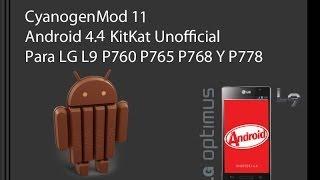 LG L9 ROM CyanogenMod 11 Android 4.4.2 KitKat