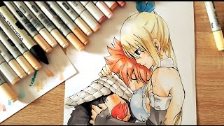 SPEED DRAWING - FAIRY TAIL - LUCY & NATSU - COPICS/PROMAKERS