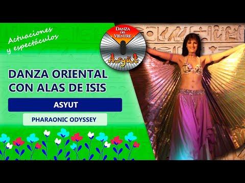 Asyut Danza oriental con alas de isis Atenea Open Stage