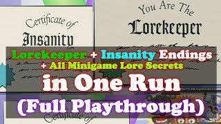 Lorekeeper + Insanity Endings + All Minigame Lore Secrets in One Run | Five Nights at Freddy's 6