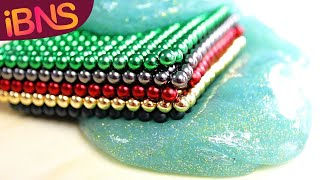 Playing with 1000 mini magnetic balls! (pt. 5, Making DIY SLIME ASMR, fun and buckyballs)
