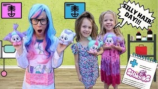 Toy Doctor Fixes Silly Kids Hair with Shnooks !!!