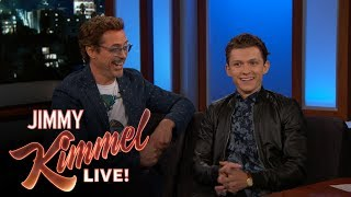 Robert Downey Jr. & Tom Holland on Spider-Man: Homecoming