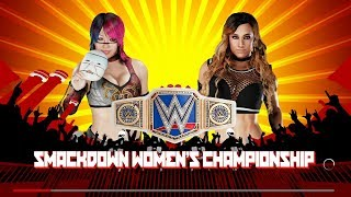 Extreme Rules 2018 - Asuka Vs Carmella For The Smackdown Womens Title - WWE 2K18