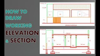 Elevation and Section in AutoCad how draw very easy & fast