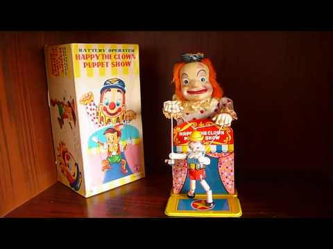Xxx Mp4 HAPPY THE CLOWN PUPPET SHOW WITH THE PINOCCHIO YONEZAWA MADE IN JAPAN TOYS 3gp Sex