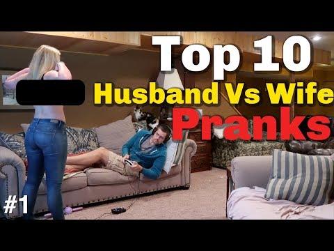 Xxx Mp4 TOP 10 HUSBAND VS WIFE PRANKS OF 2018 Youtube Rewind 3gp Sex