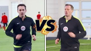 Neville v Carragher in the Referee Fitness Test! | The Referees Part 1