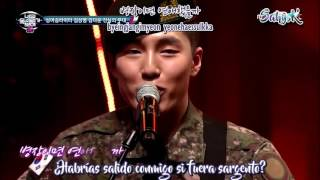 Kim Da Woon - A love that only soldiers can't have (Sub Esp) I Can See Your Voice 4