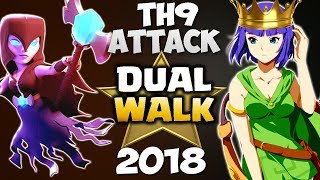 (Queen + Witch) WALK: DUAL WALK TH9 STRONG WAR ATTACK STRATEGY 2018 | Clash of Clans