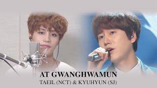Taeil (NCT) & Kyuhyun (Super Junior) - At Gwanghwamun
