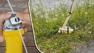 How To Make Grass Cutter | Homemade Grass Trimmer Easy 2018  Angle Grinder