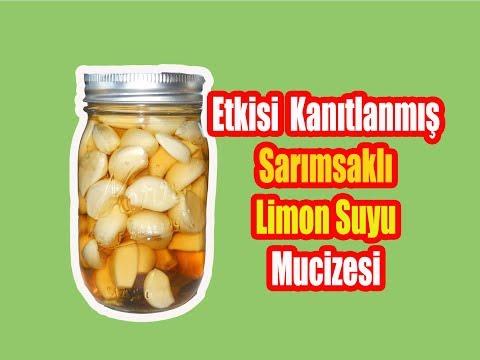 Sarımsak Ve limon Suyu Mucizesi  /  Sarımsak Limon Kürü