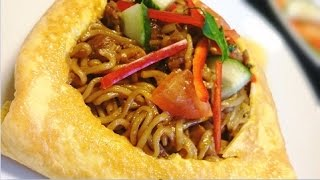 Resep Mie Goreng Bungkus Telor (Fried Noodle Wrapping Egg Recipe)