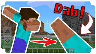 สอนทำท่า Dab ! ในมายคราฟ!! เกรียนๆ มายคราฟได้เพิ่มท่าใหม่แล้ว!? | Minecraft PE 1.1-1.2