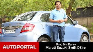 Maruti Suzuki Swift DZire Test Drive Review - Autoportal