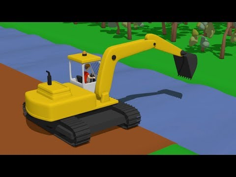 Street Vehicles Excavator Bulldozer Truck and other construction equipment for big boys