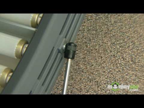 How to replace shocks and hinges on a tanning bed