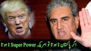 Shah Mehmood Qureshi On Donald Trump Tweets After PM Imran Khan   Pakistan America Relations 2018