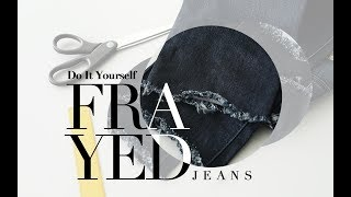 iStyle Indonesia #Hobbies - DIY Frayed Jeans