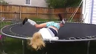 What happens on trampoline can make you laugh pretty hard - Funny fail and win compilation
