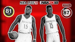 10 Players NBA 2K18 Thinks Are Good But NBA Live 18 Thinks Are Bad!