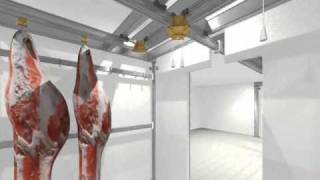 ITALMODULAR Meat rail Im09 in aluminum for cold rooms and cold sotrages