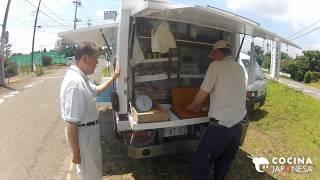 Vendedor ambulante de sashimi / Sashimi - Street Food in Japan