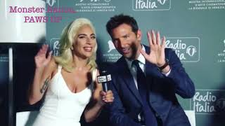 Lady Gaga & Bradley Cooper in Venice Red Carpet, interview, pictures, and standing ovation.