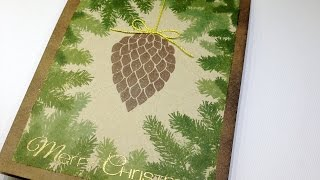 Christmas card tutorial with CAS-ual Friday Stamps