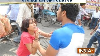 Road Rage: Wife Fights Street Goons To Save Husband