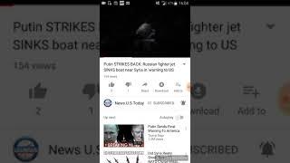 WW3 - Russian fighter jet sinks boat near syria