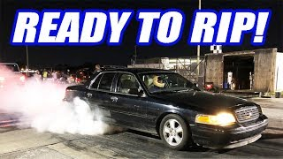 Cooper BLEW UP His Supra In a Donut Competition + The Crown Vic Goes To The Track!