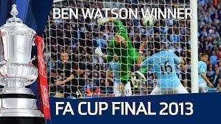 Ben Watson's winning goal for Wigan vs Manchester City, FA Cup Final 2013