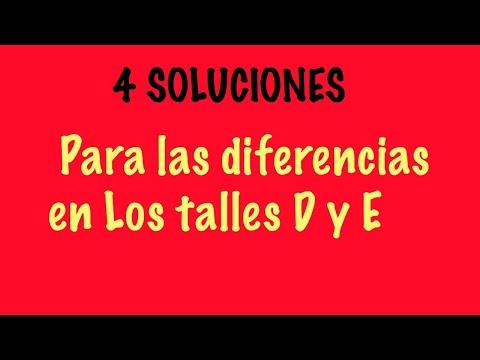 4 SOLUCIONES PARA DIFERENCIAS DE TALLE, POR BUSTO