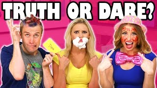 Truth or Dare Challenge  with Jenn vs Weston vs Lindsey. Totally TV