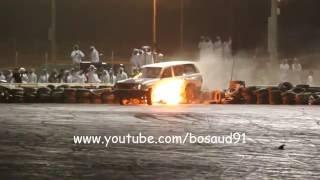 استعراض جي ابيض ( خربها واحترق ) في حلبة قطر 17 6 2016