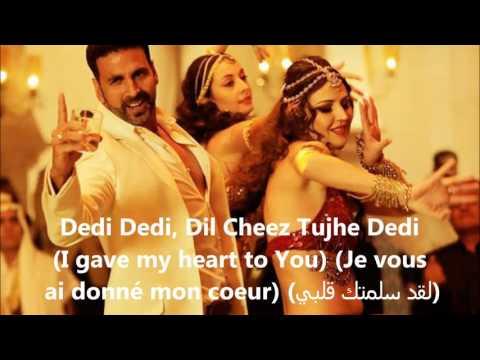 Dil Cheez Tujhe Dedi- Song Lyrics (Traduction en Français+English subtitels+مترجمة للعربية)